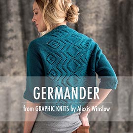 Graphic knit promo pictures germander