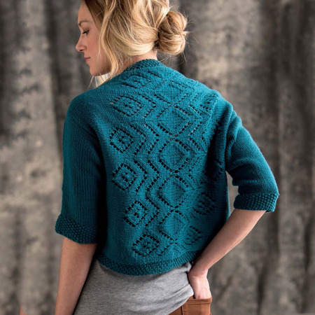 Graphic knits   germander shrug beauty shot