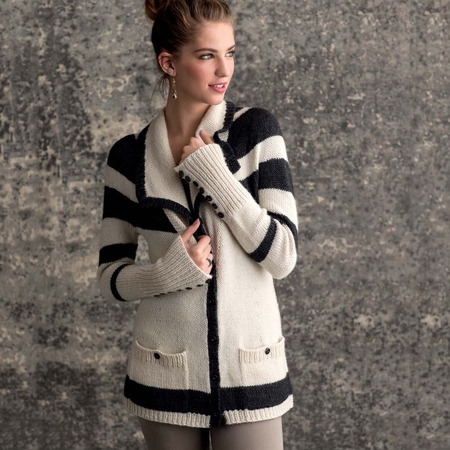 Graphic knits   laszlo cardigan beauty shot