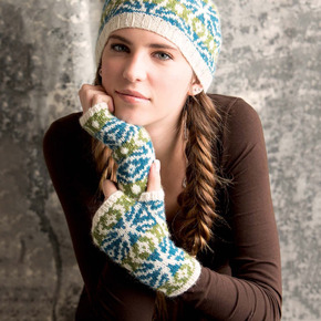 Graphic knits   woodstar mitts beauty shot