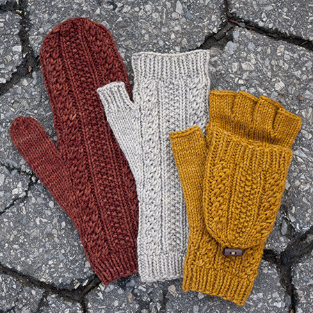 Cabled dad mittens 1 kd