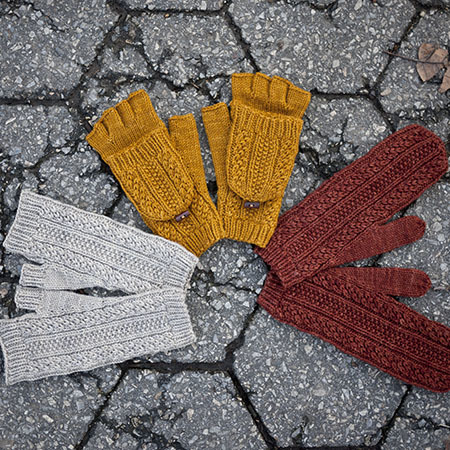 Cabled dad mittens 2 kd