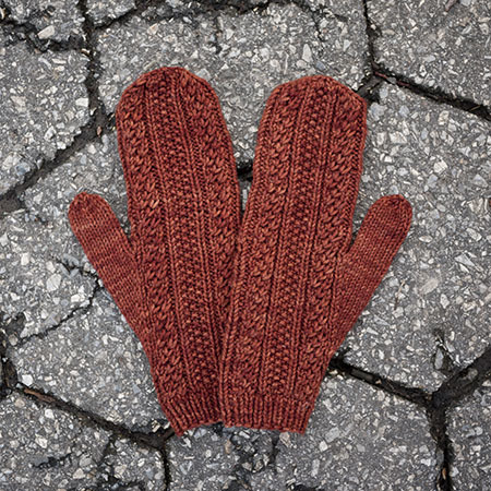Cabled dad mittens 10 kd